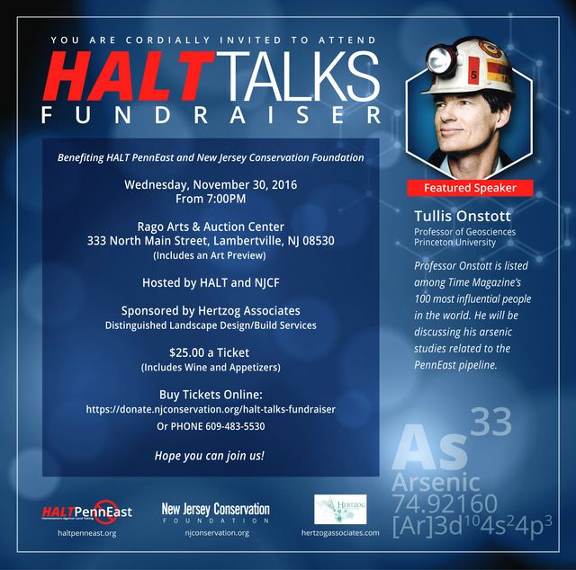 HALT Talks Fundraiser with Tullis Onstott Nov. 30th.